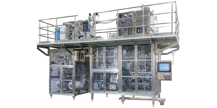 Gas sterilization type Aseptic filling and packaging system